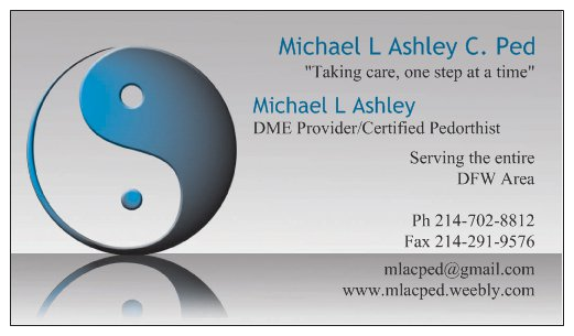 Michael L Ashley C. Ped - Black Owned