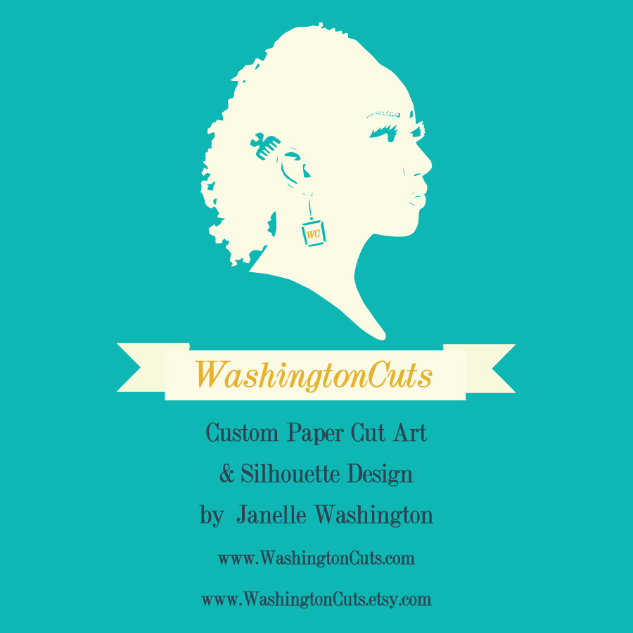 WashingtonCuts paper cut and silhouette design - Black Owned